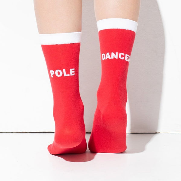 Pole Dancer socks Red