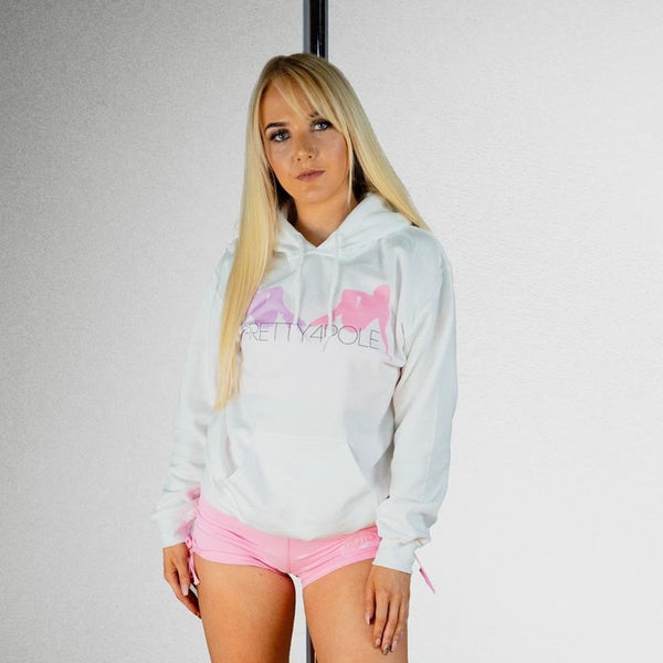 """I'm too pretty4pole"" hoodie - white"