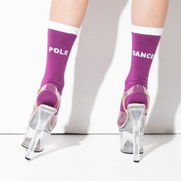 Pole Dancer socks Purple