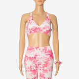 'Ximena watermelon margarita' Sports bra pink