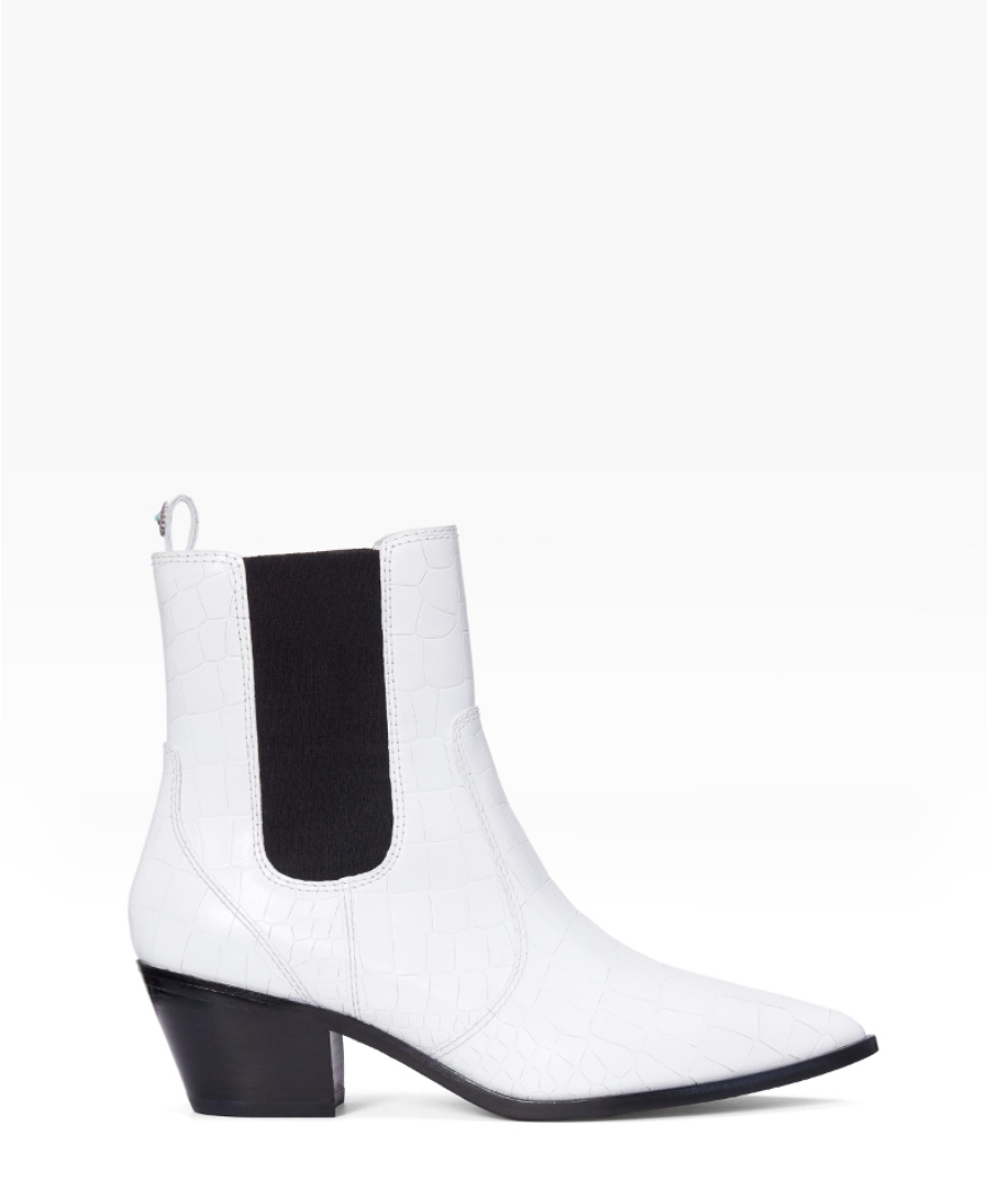 Paige Willa Boot - White Croc