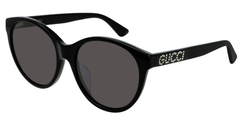 Gucci Oval Sunglasses - Black / Gray