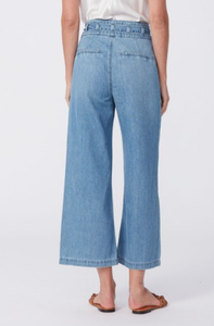 Paige Anessa Jeans with Self Belt and Detailed Waistband - Whitten