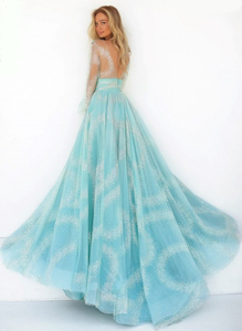 Luxus Green Glitter Earrings