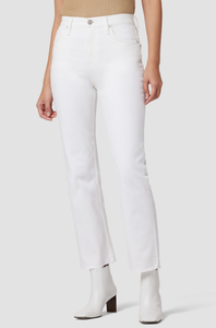 Hudson Remi High-Rise Straight Crop Jeans - Worn In