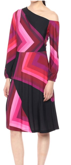 Trina Turk Pink and Black Dress