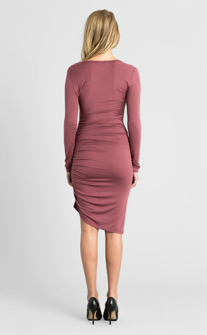 Asymmetrical Shirred Dress