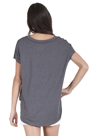 Short Sleeve Banded Neck Tee