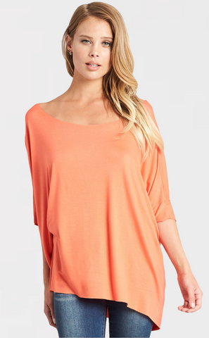 Deep V-Neck Draped Shoulder