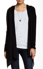 Hooded Drape Cardigan with Pockets
