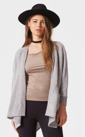 Drapey Shoulder Button Cardigan
