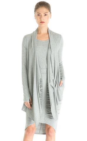 Lace Trim Waterfall Cardigan
