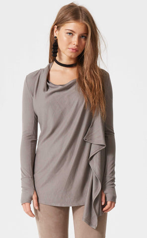 Cordi Button Cuff Top