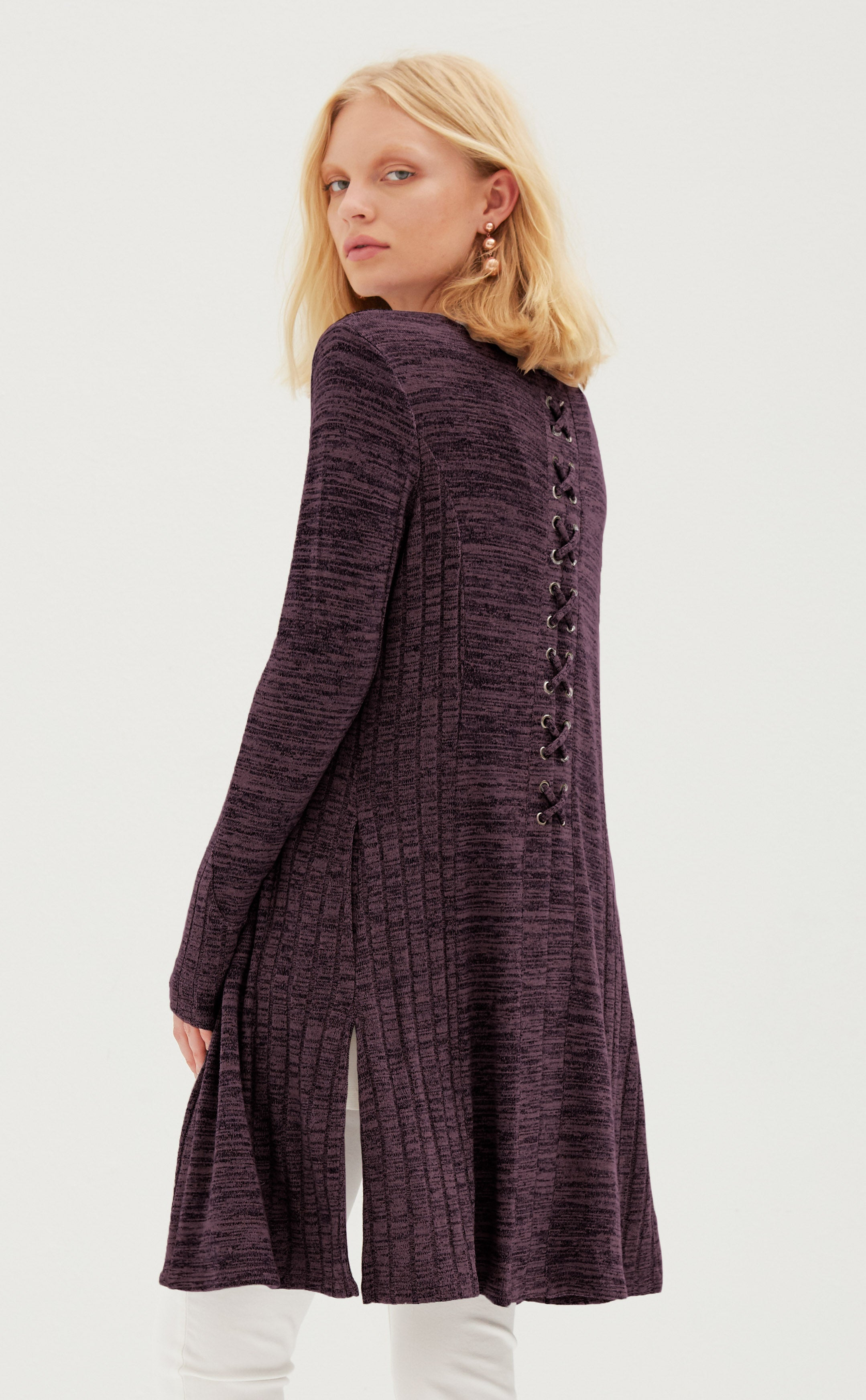 Lace Back Duster Cardigan