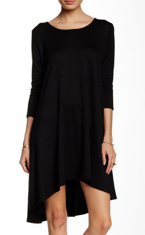 Asymmetrical Side Drape Dress