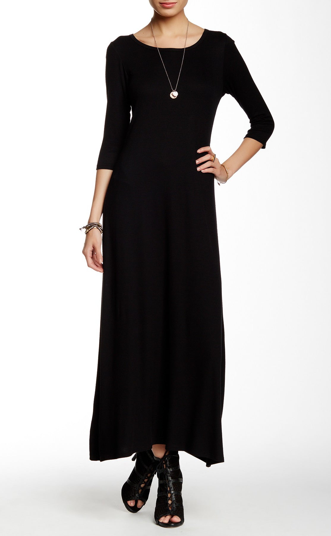 810e94f368e Long Maxi Dresses With 3 4 Sleeves - Gomes Weine AG