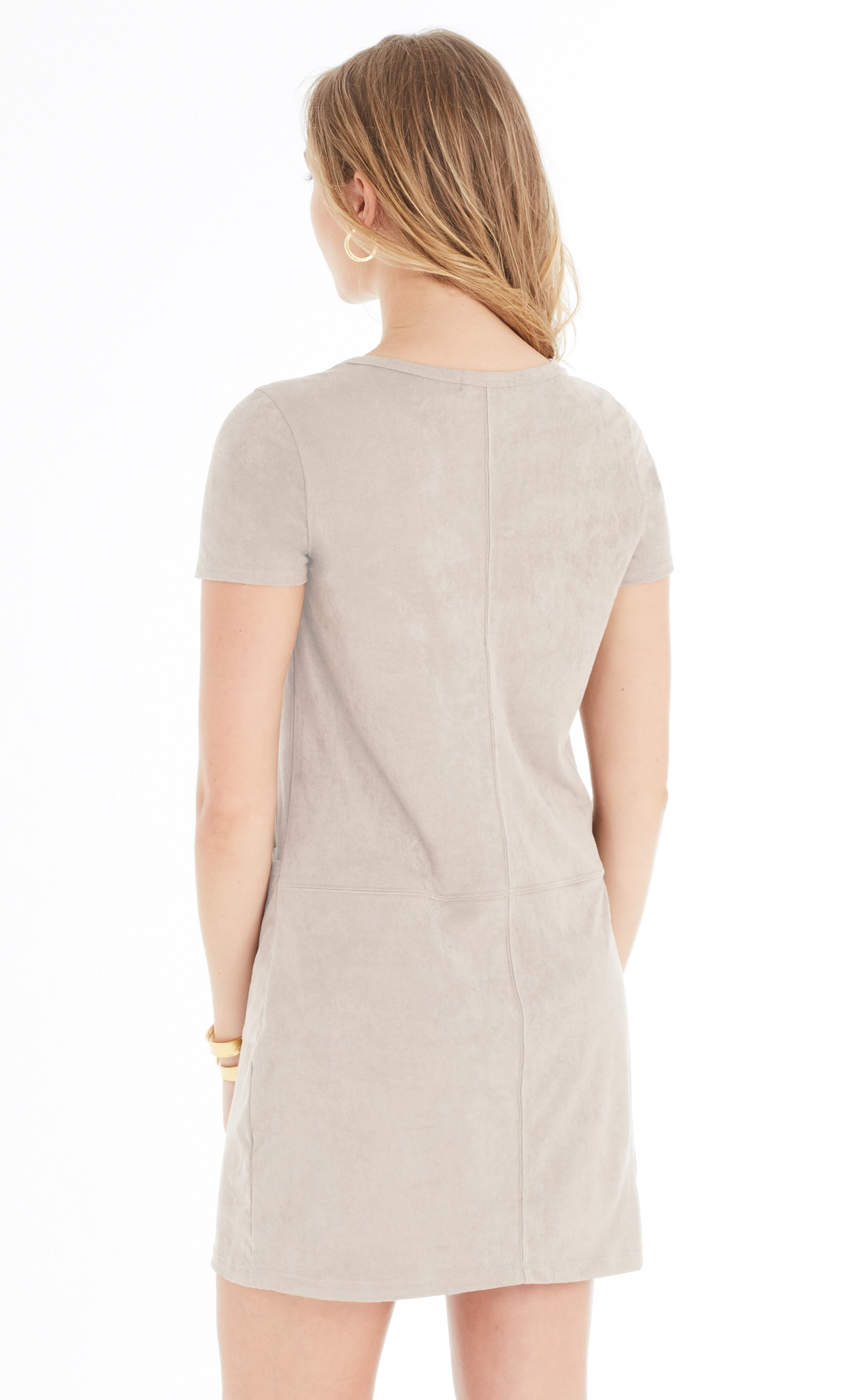 Suede Shift Dress