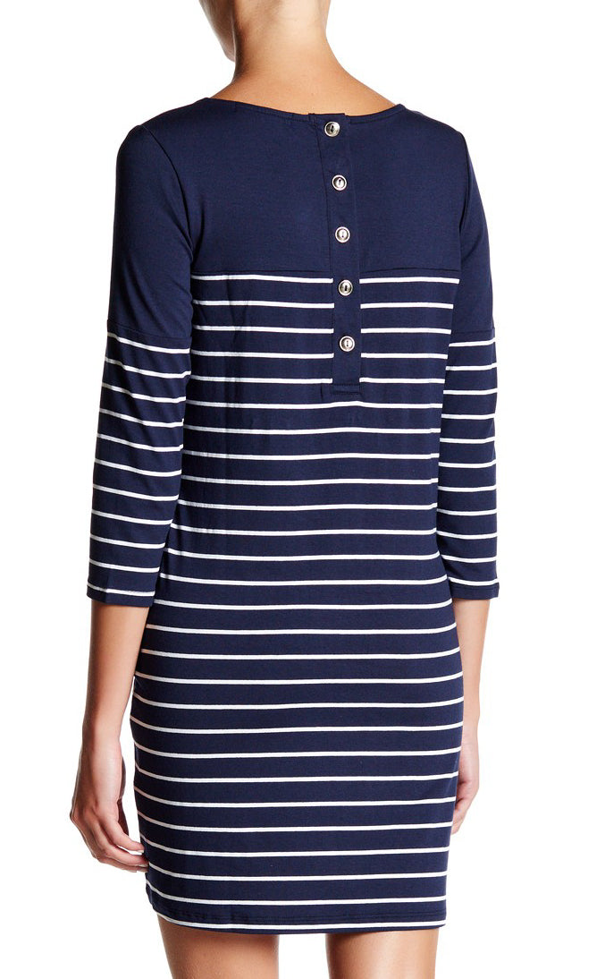 Stripe 3/4 Sleeve Dress