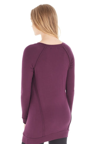 Long Sleeve Tunic w/ Piping Detail