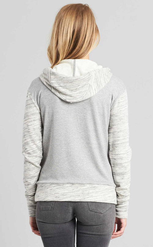 Mixed Fabric Hoodie