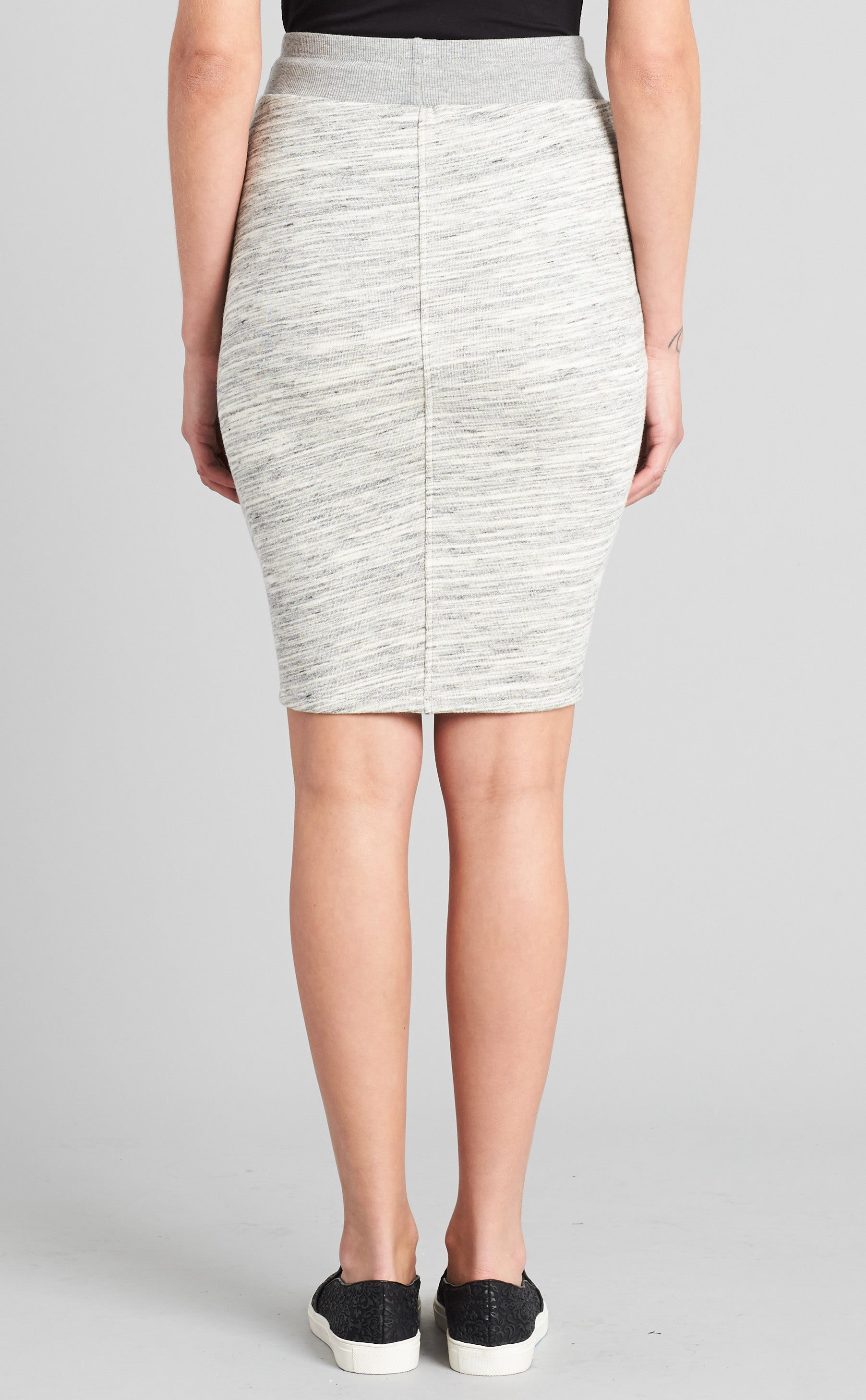 Mixed Fabric Skirt