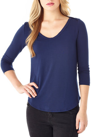 Long Sleeve Fitted Dolman W/ Pockets