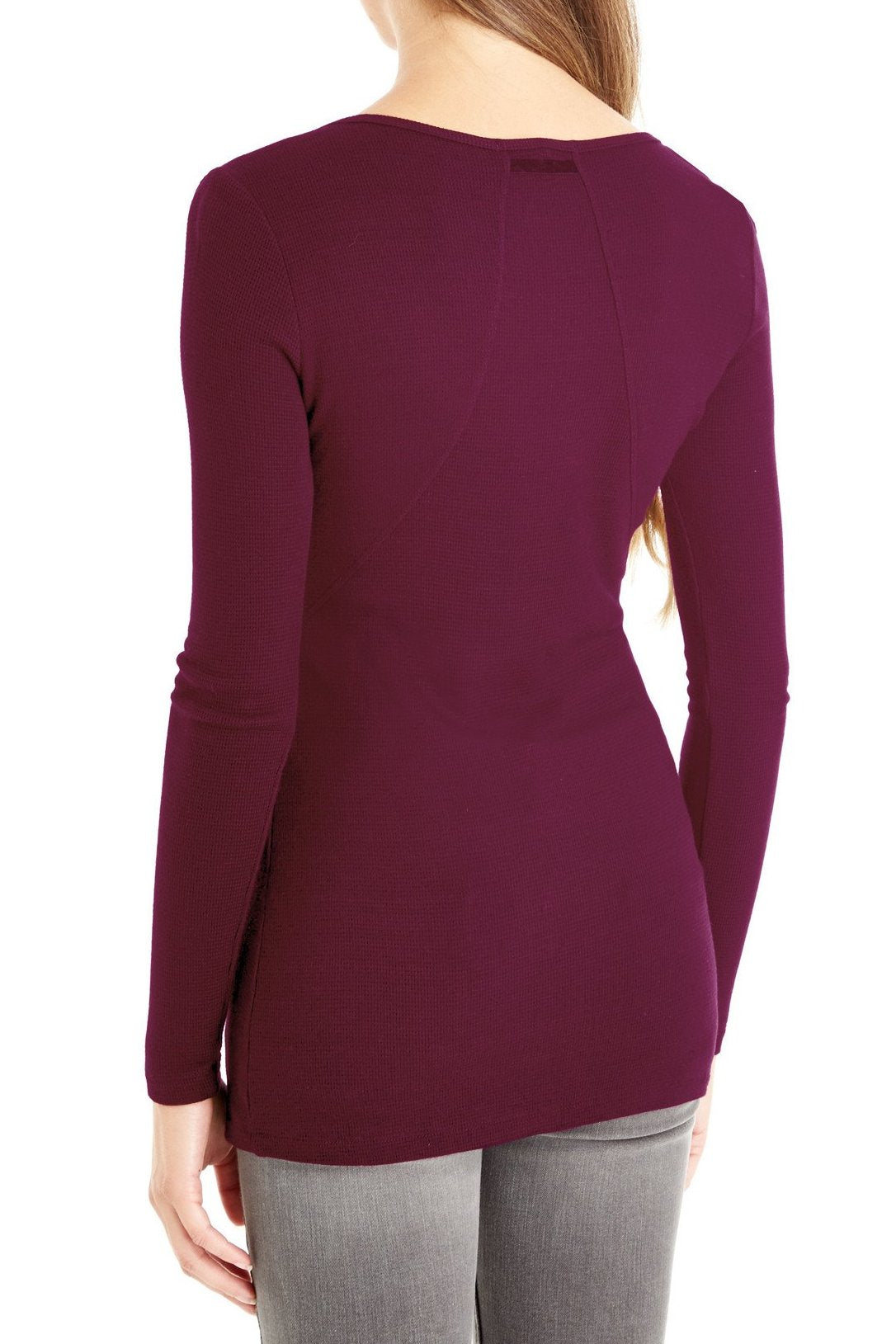 Placket Front Long Sleeve Top
