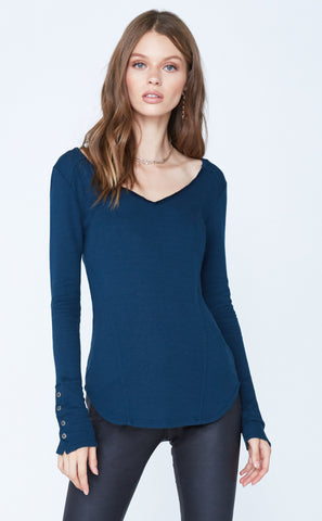 Long Sleeve Sweater w/ Front Zippers