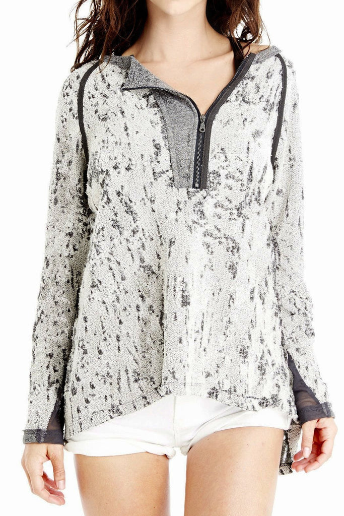 Long Sleeve Asymmetrical Zip Up