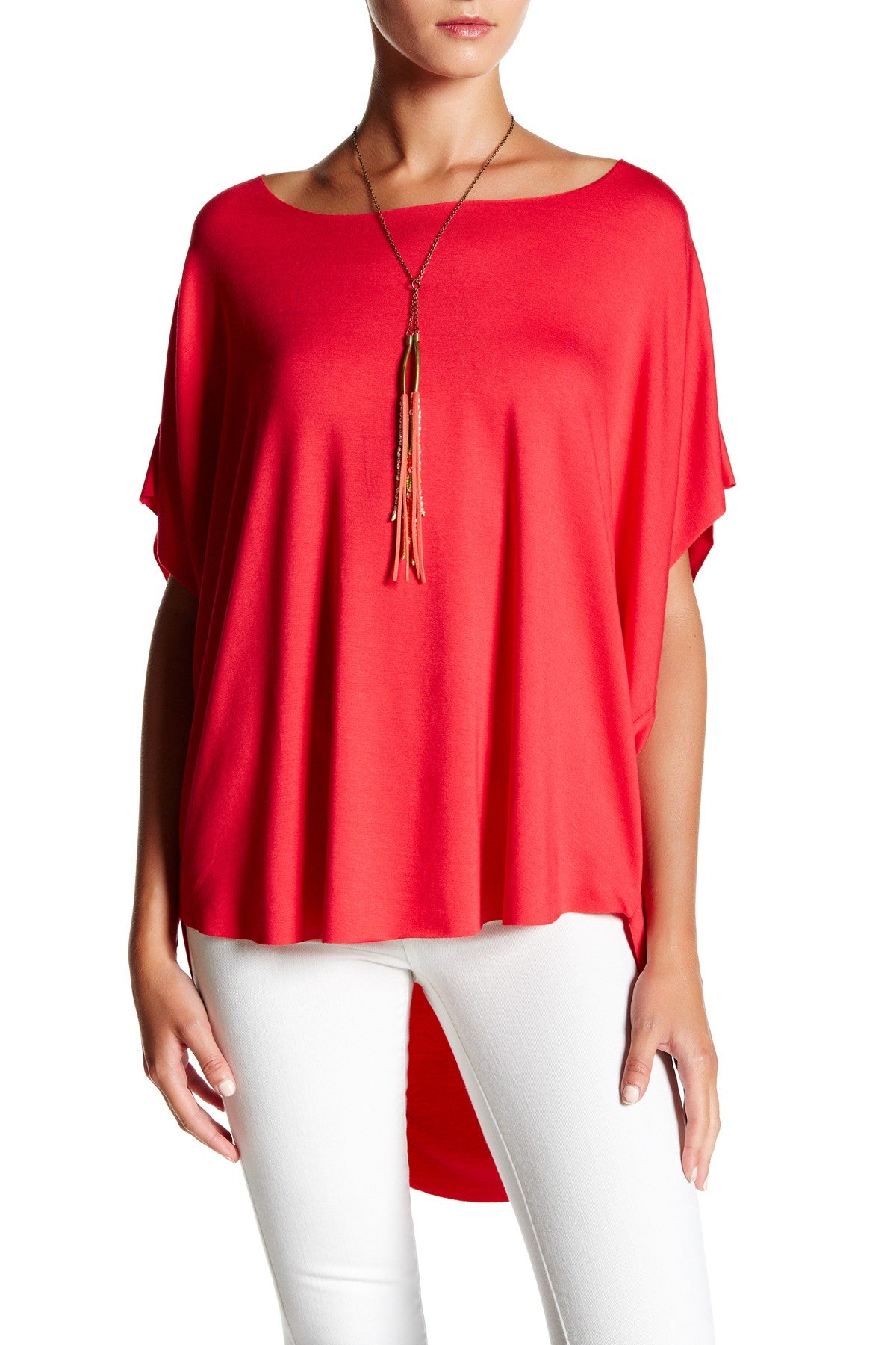 Scoop Neck High Low Top