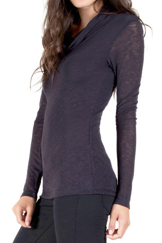 Long Sleeve Keyhole Top