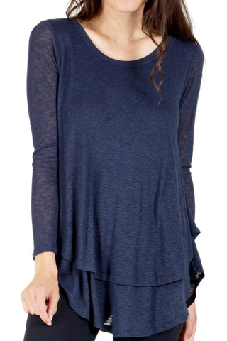 Open Slit Raglan Top