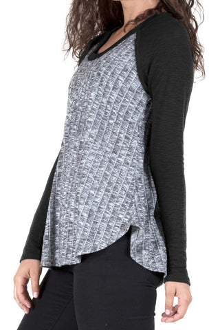 Raglan Sleeve Top with Rib (more colors available)