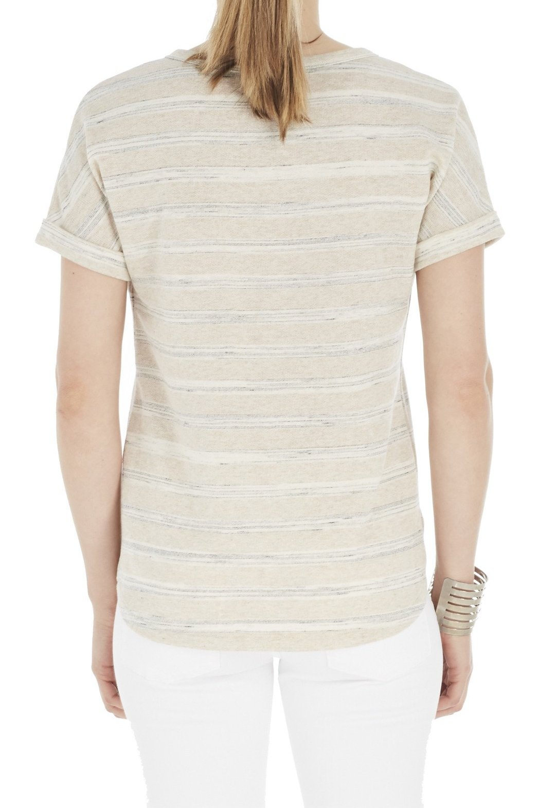 Short Sleeve Top with Lace Up Front