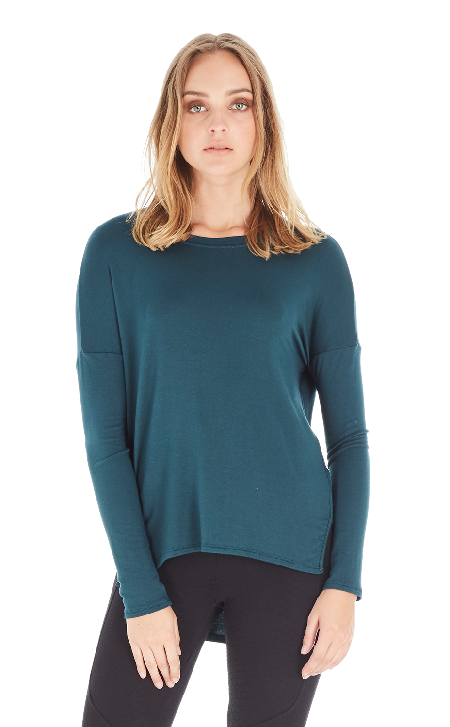 Long Sleeve Pull Over w/ Piping Detail