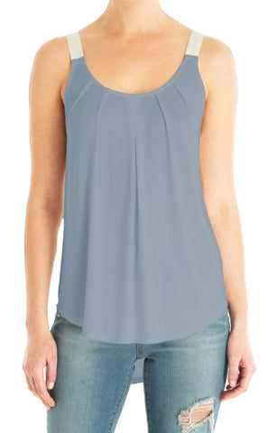 Sleeveless Zipper Shoulder Top