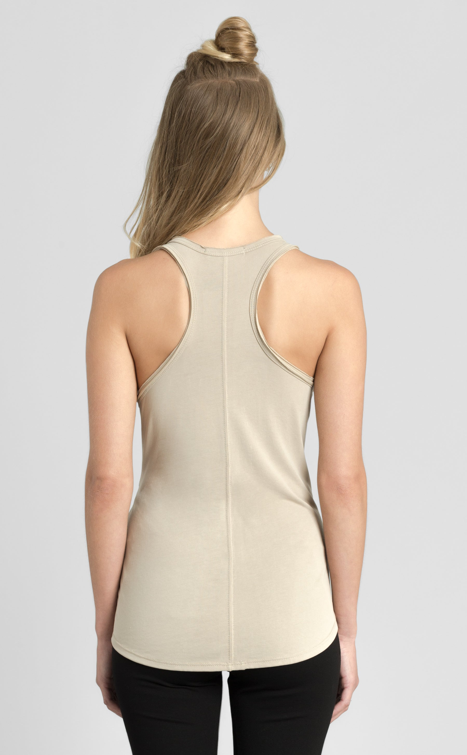 Shirred Raceback Tank Top