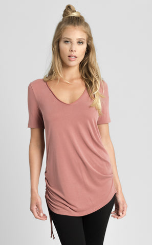 Banded Neck Tee Shirt