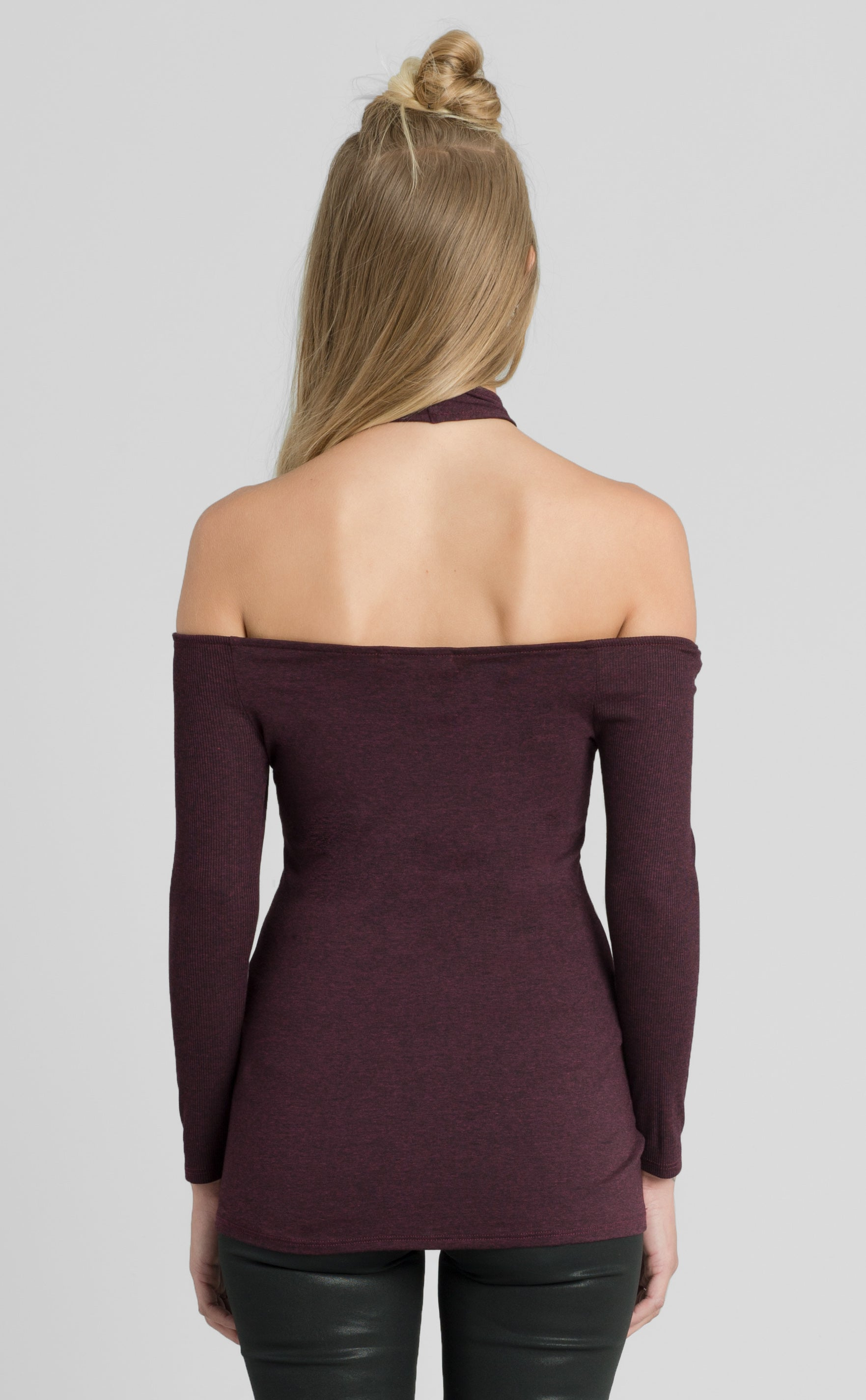 Cold Shoulder Bodycon Top