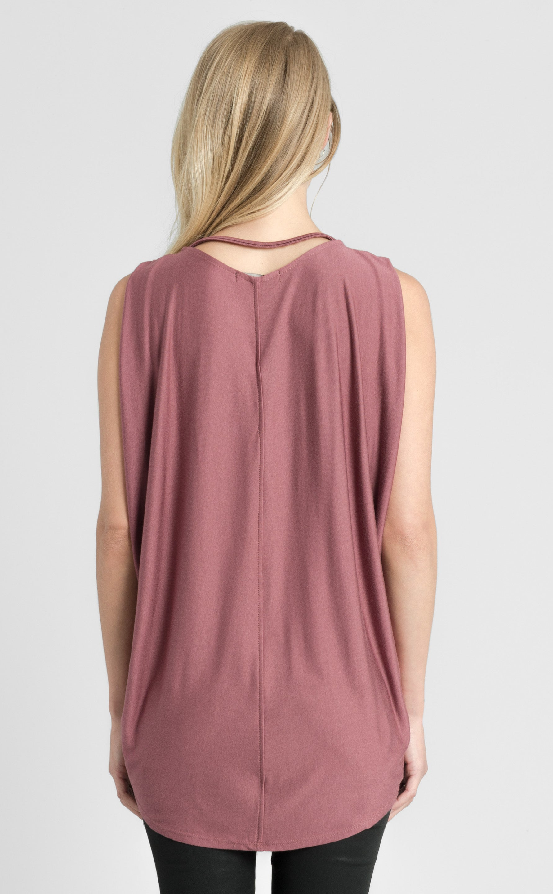 Strappy Side Drape Top
