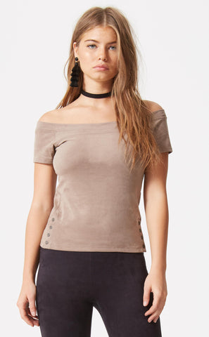 V-Neck Shoulder Lace Up Top