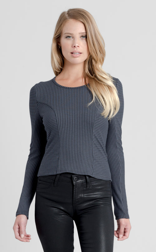 Long Sleeve Jewel Neck Top