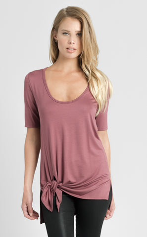 High Low Scoop Neck Top