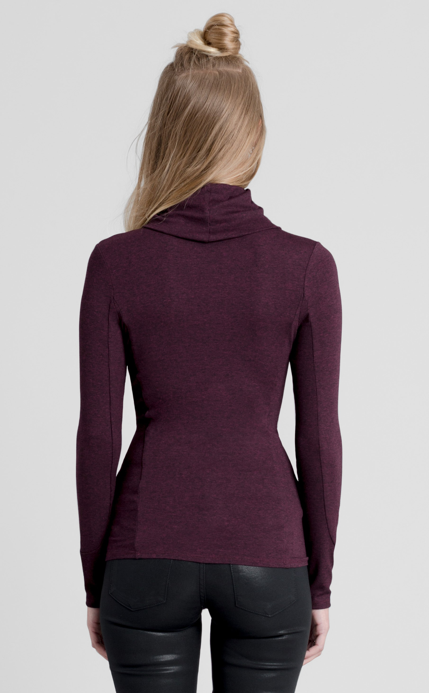 Long Sleeve Funnel Neck