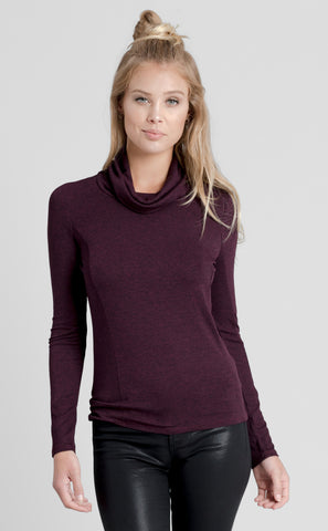 French Terry Long Sleeve Cowl Neck