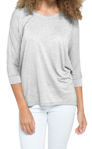 Long Sleeve Angled Double Layered Top