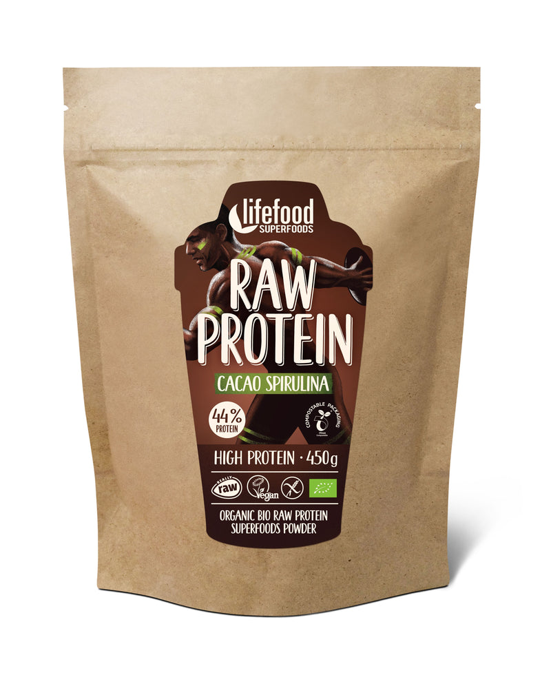 Pudra Proteica Cacao Raw Food 450g