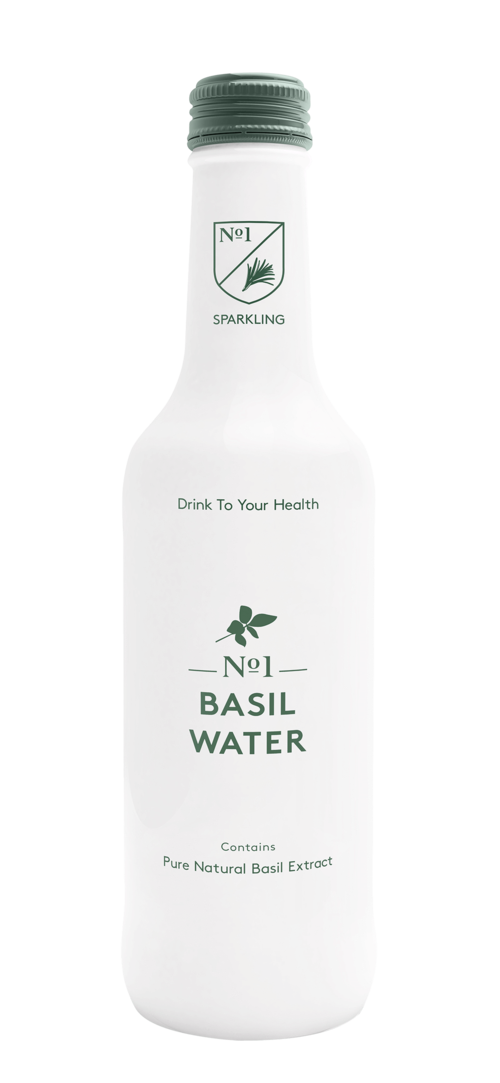 Apa carbogazoasa No1 Botanicals Sparkling Basil Water 330ml