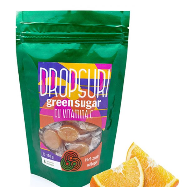 Dropsuri cu Vitamina C, Green Sugar 150g