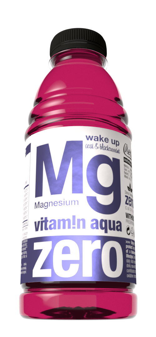 Vitamin Aqua Mg Zero Acai & Blackcurrant 500ml